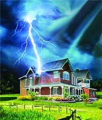 Молниезащита зданий, молниеприемник г.Краснодар